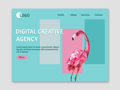 Landing page Digital creative agency landing page