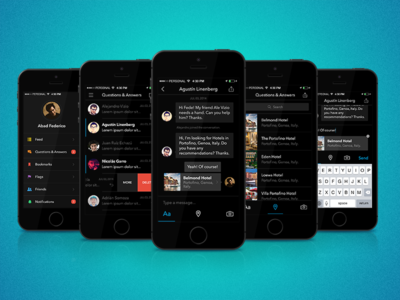 iOS App ios app ux ui questions answers conversations messages debut first shot