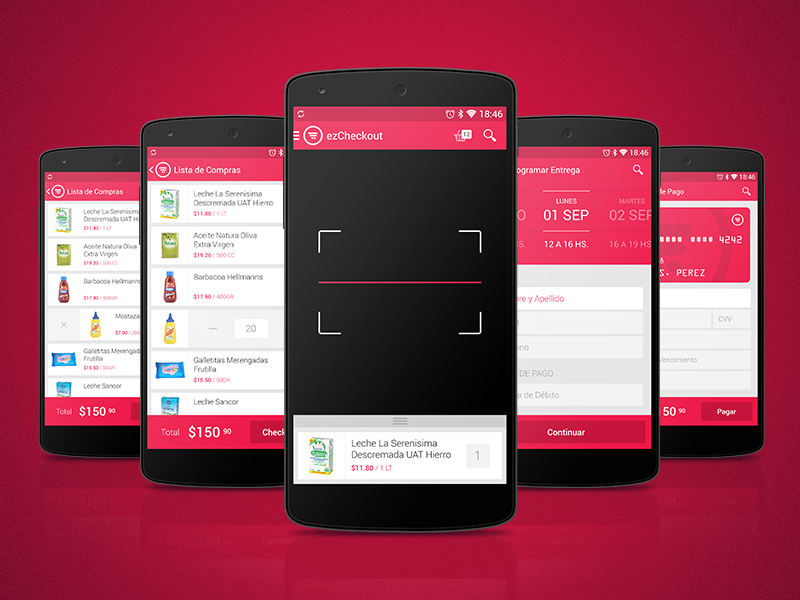 Android App bardcode scanner android app supermarket checkout cart product