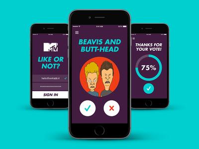 MTV Like or Not? ios app mtv ux ui