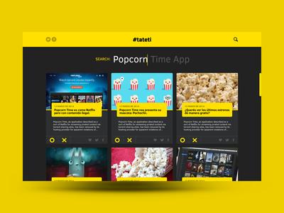 News Website news ux design website ui design yellow product design
