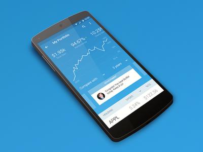 iBillionaire Android App ibillionaire index material design ux design ui design android stocks mobile index