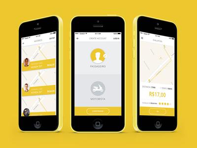 Mototaxi ux design ui design mototaxi ios app mobile br motorista taxi