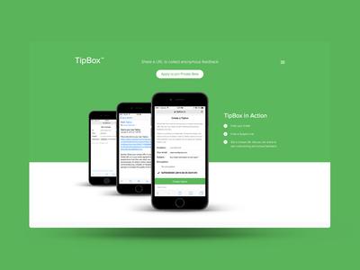 TipBox ux design ui design web app wip