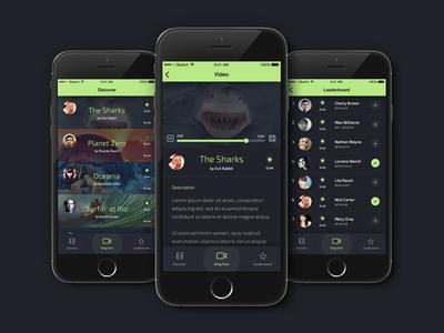 Slinger videos ux design mobile ios ui design app movies wip