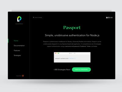 PassportJS ux ui sketch js passportjs design website