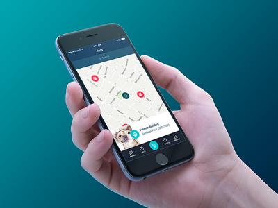 Pets product design design ui ux pets map mobile app ios