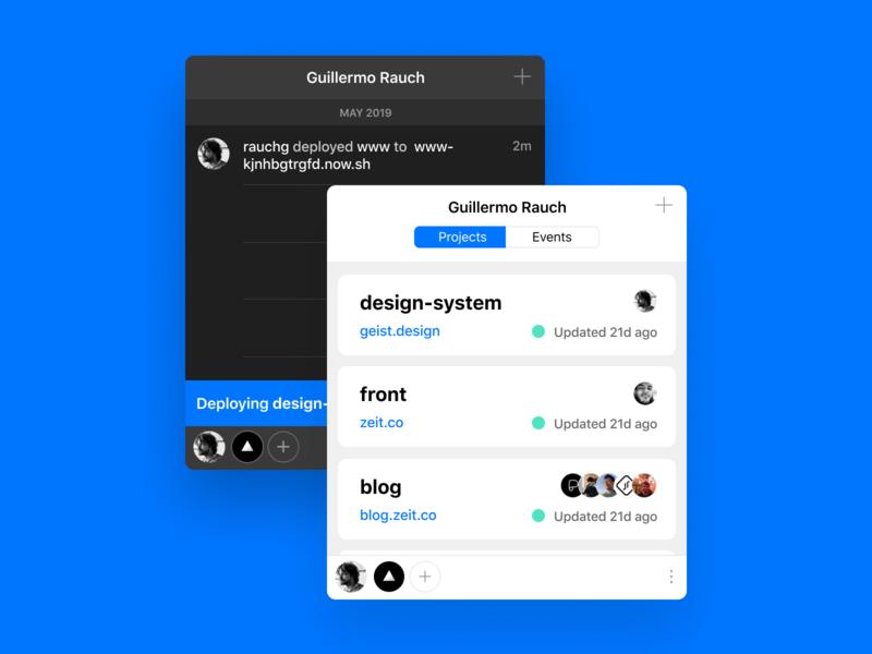 Now Desktop 5 menubar design app macos design process