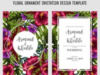 Floral Ornament Invitation Design Template