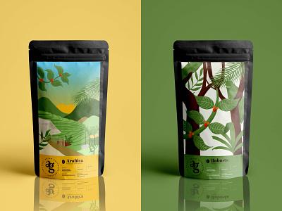 Kopi Abian Gesing - Packaging packaging branding illustration