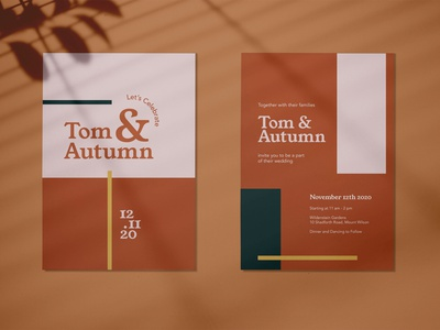 Tom & Autumn - Wedding Invitation wedding card wedding invitation wedding invitation design