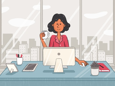 office characterdesign branding character animation illustration