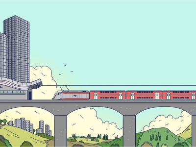 train branding train illustration