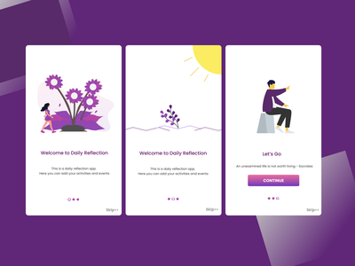 Landing pages for Daily Reflection app landingpage
