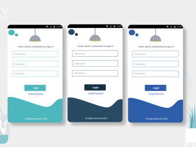 Enterprise login screen designs