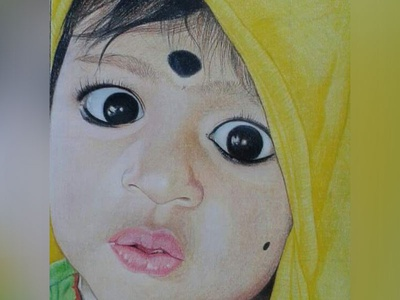 Baby Pencil Drawing artwork