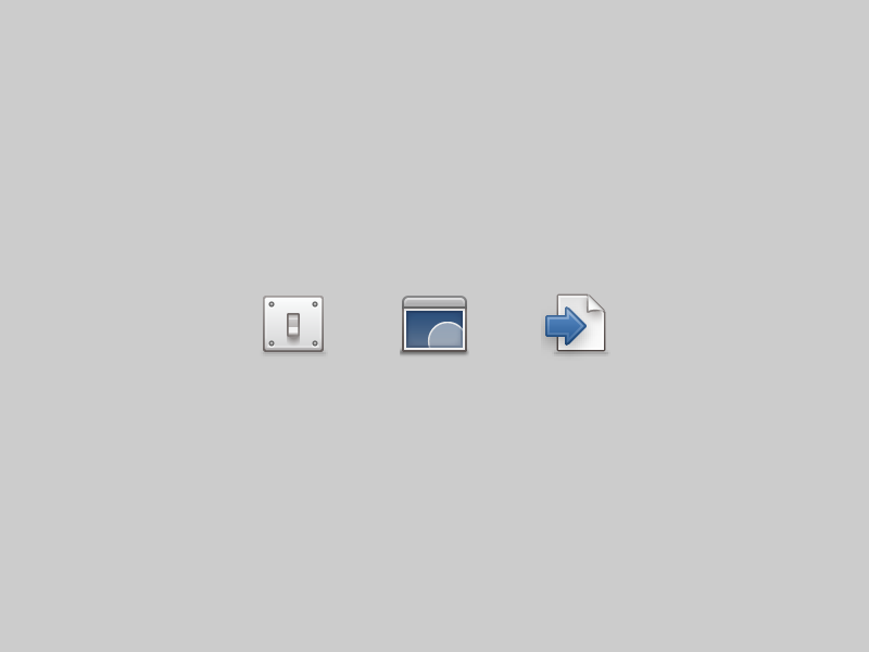 Preferences icons