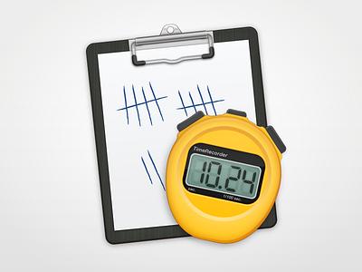 TimeRecorder AppIcon appicon stopwatch lcd clipboard icon