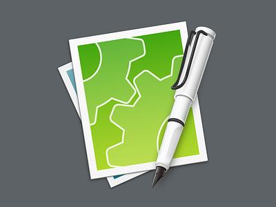 CotEditor for Yosemite (RC) icon vector application yosemite fountain pen text editor
