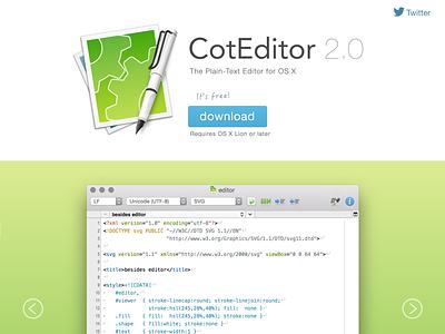Coteditor 2.0 Web web landing