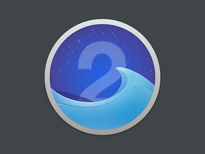 BathyScaphe for Yosemite application icon yosemite wave 2 stars sky