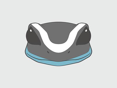 Dart Frog Head vector illustration frog