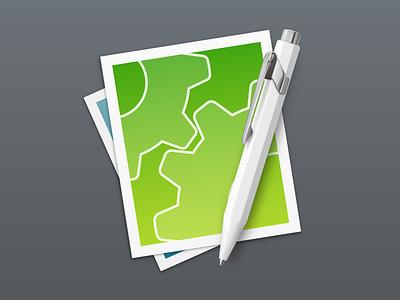 CotEditor 3 macos application text editor ballpoint pen vector icon