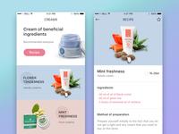 Recipes of creams app