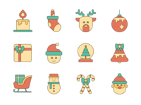12 Christmas icons