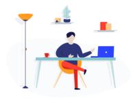 Workplace Illustration (+1 Dribbble invitation)