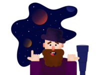 Man Watching Space