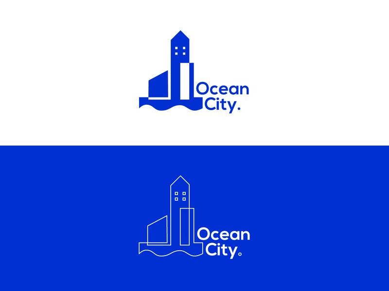 Ocean City Logo - Daily Logo 22 ocean logo city city branding vector logo adobe illustrator logo design design branding dailylogochallenge