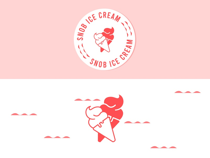 Snob Ice Cream Logo - Daily Logo #27 cone ice scoop ice cream icecream flat restaurant icon design logo design logo dailylogochallenge branding adobe illustrator