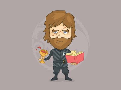 Tyrion Lannister character design line targaryen stark midget hobbit dwarf game of thrones character vector illustrator illustration