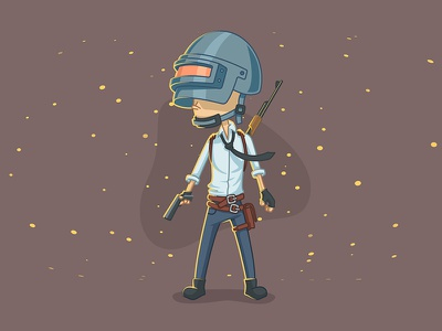 PUBG Character 2.0 ak47 fan art gaming 2d vector character game battlegrounds illustrator illustration pubg