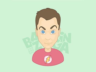 Bazinga! cartoon big bang theory bazinga physics sheldon line character design character vector illustrator illustration