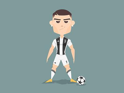 Ronaldo To Juventus fifa soccer football character vector adobe illustrator illustration cristiano worldcup juventus ronaldo