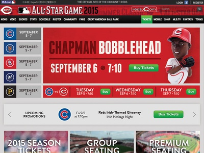 Reds Ticket Page Redesign