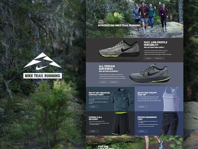 Backcountry - Nike Launch backcountry web design nike running responsive