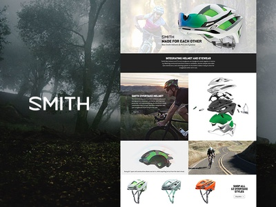 Smith Integrated Helmets backcountry web design ecommerce responsive