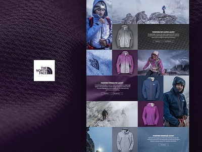 The North Face FuseForm backcountry web design ecommerce responsive