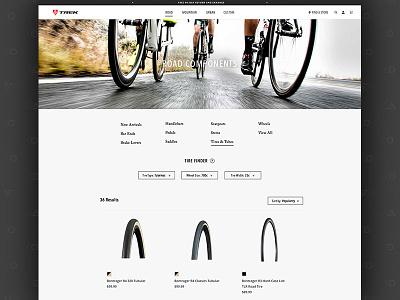 Trek // Product Listing Page Exploration responsive ux bikes trek ecommerce plp