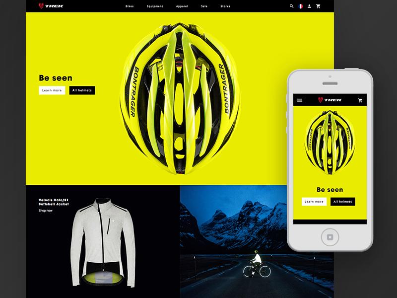 Trek // Homepage Prototype responsive home page website web ux trek bikes