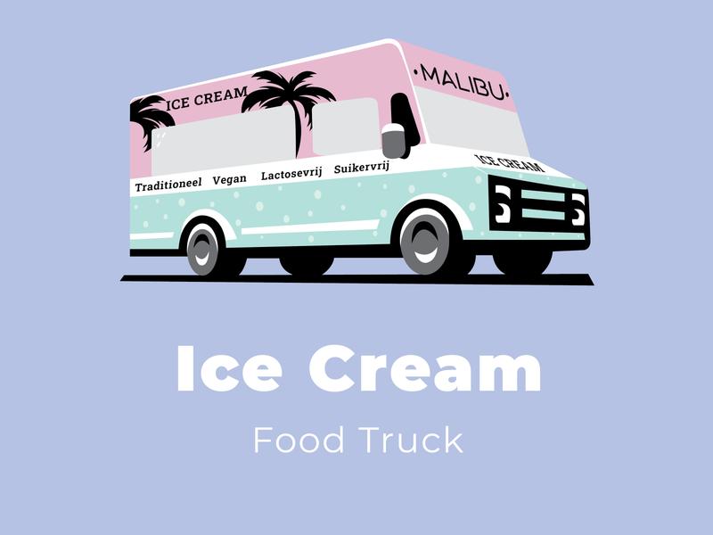 Ice Cream truck adwards ui ux typography logo branding design