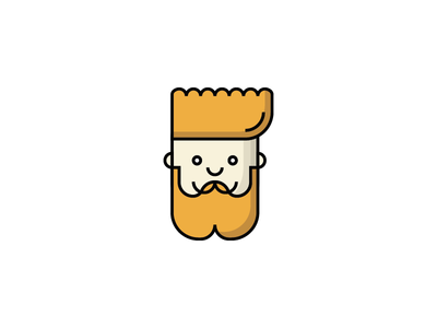 Bearded Avatar bearded hipster avatar man vector