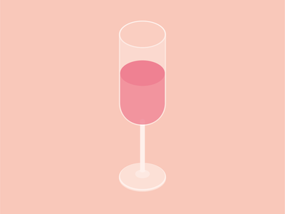 Champagne glass gastro food drink isometric illustration vector
