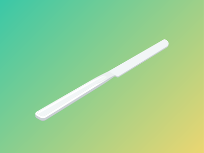 Table Knife kitche knife flat isometric vector
