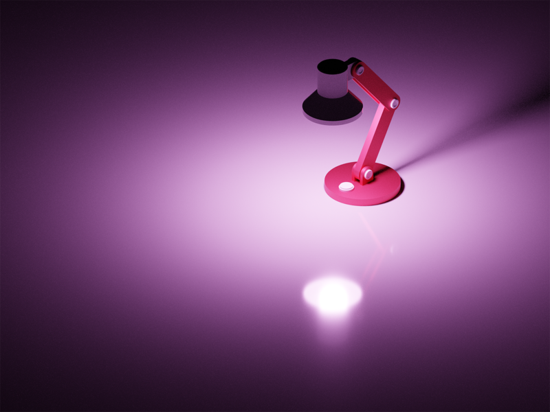 Workspace Lamp Render study lights illustraion isometric pink workspace lamp rednder