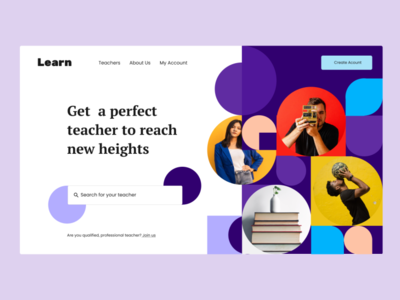 Learning Website Landing Page landing page design landingpage learning platform teacher teaching mentor learning desktop ui ux designer design webdesign website figmadesign figma