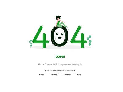 Error Page green website design errors error message fun uiux illustration ui webdesign error state error page error 404 error figmadesign figma design